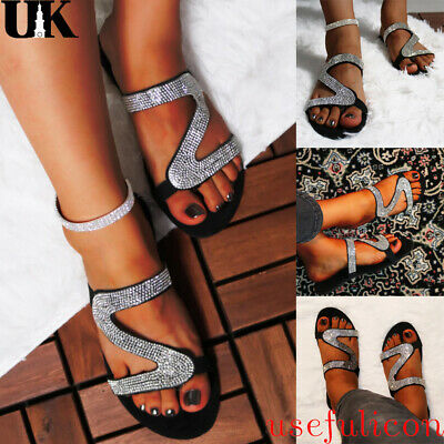 Women Studded Flat Casual Shoes Flip Flop Summer Slippers Ladies Sliders Sandals