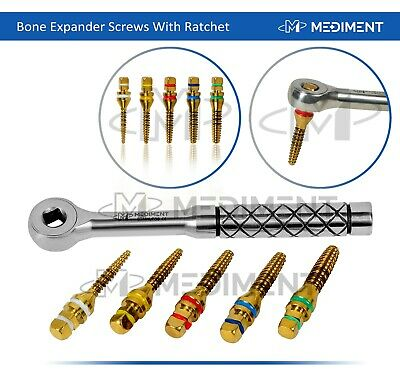 Bone Expander Kit 5 Pcs Screws Dental Implant With Free Ratchet Wrench 4.0mm CE