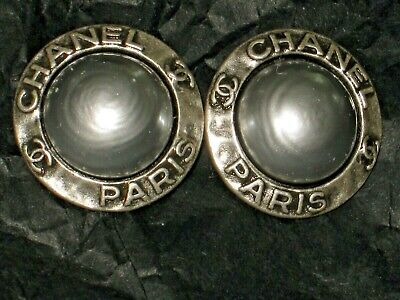 Chanel Paris 2 Cc  Silver Pearl  18 Mm Buttons This Is For Two