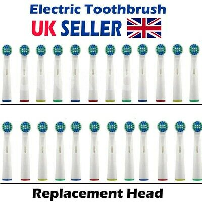 Electric Toothbrush Heads Compatible With Oral B Braun Replacement Brush Head UK