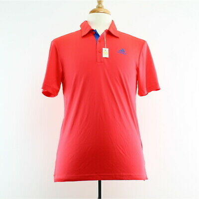 Adidas Men's Polo Shirt Drive Novelty Solid Pique Top, Shock Red, DQ2309 $55