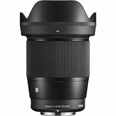 NEW Sigma 16mm f/1.4 DC DN Contemporary Lens for Sony E - 2 year warranty