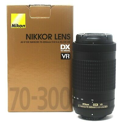 NEW Nikon AF-P DX NIKKOR 70-300mm f/4.5-6.3G ED VR - UK NEXT DAY DELIVERY