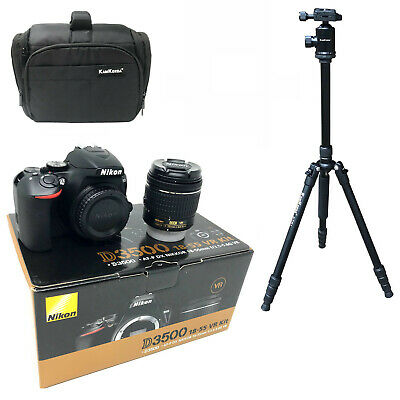 NEW Nikon D3500 + AFP 18-55mm VR + KamKorda Bag + Tripod - UK NEXT DAY DEL