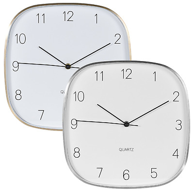 Wall Clock Decorative 2 Variants Arabic Numerals Indoor Every Room Office Home