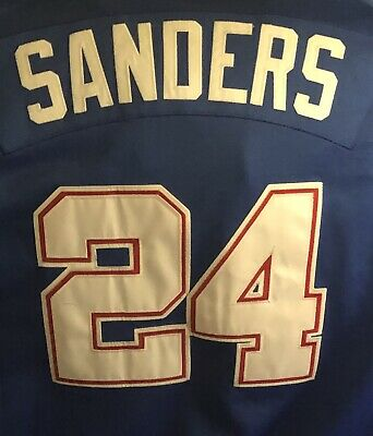 buy online 4088f 7c5a7 RARE DEION SANDERS New York Yankees Mens Home Jersey Braves ...
