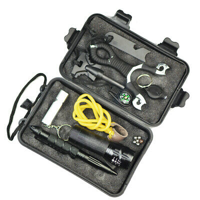 SOS Emergency Survival Equipment Tool Kit Outdoor Sports Tactical Hiking Camp AU