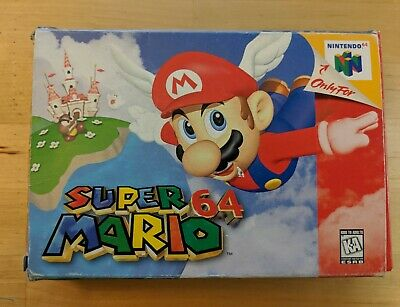 SUPER MARIO 64 N64 Nintendo 64 Game Case Box Cover Brand New