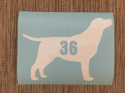 3 x Wheelie Bin Numbers Poodle House Number Sticker Dog Standard Minature Recyle