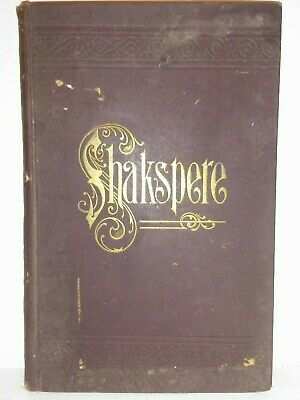 The Works Of Shakespeare Volume 1 & 2 Antique Book Late 1800s P F Collier NY