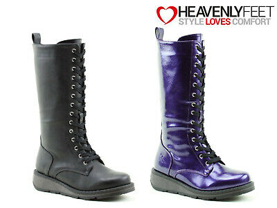 Ladies Tall Winter Boots Heavenly Feet Memory Foam Zip Up Comfy Stylish Shoes