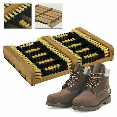 Heavy Duty Double Shoe Cleaner Boot Scraper Brush Outdoor Door Mat Wellington