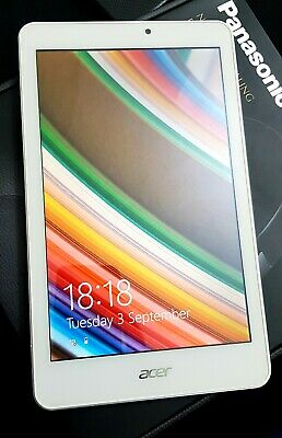 Acer Iconia  8w W1-810 32GB, Wi-Fi,Windows 8in Tablet - White Great Condition