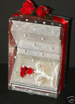 Forever Red Rose Valentine Personalised gift Cellini Candles CD10