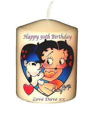 60th  Birthday Betty Boop Personalised giftCellini Candles #1