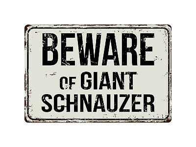 "Beware Of Schnauzer 8/"" x 12/"" Vintage Aluminum Retro Metal Sign VS371"