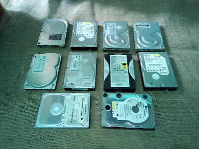 """SCRAP 10x 3.5"""" Computer HDD Hard Drives For Gold Silver Metal Recovery Only"""