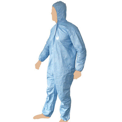 Tyvek ProTech Coverall Overall Workwear Disposable Hooded Spray Suit Paint Sz L