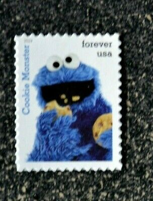 2019USA Forever Sesame Street - Cookie Monster - Single Postage Stamp  Mint