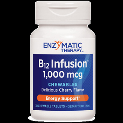 B12 Infusion 1,000 mcg 30 chewables  Enzymatic Therapy exp 03/2021