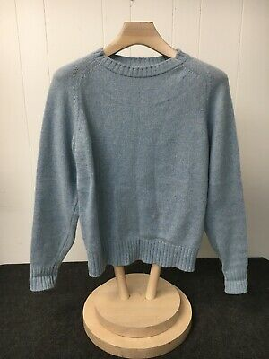 The Fox Collection Men's Medium (38-40) Blue Sweater VTG   F01