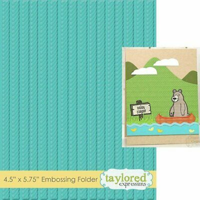 KNOW THE ROPES TEEF50 - Taylored Expressions EMBOSSING FOLDER