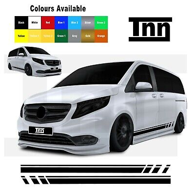 for Mercedes VITO Vito Racing Side Stripes Stickers Vinyl Graphics Decals Merc