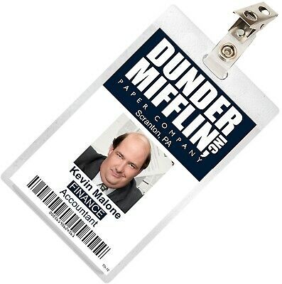 The Office KEVIN MALONE Dunder Mifflin ID Badge Cosplay Costume Name Tag TO-12