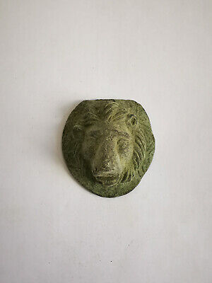 Reproduction Ancient Bronze Roman Lion Head Aplique Decoration Decor