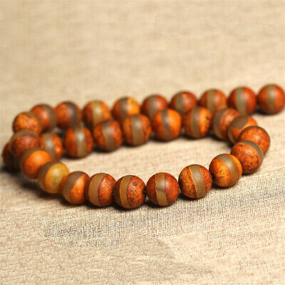 Antique Agate Dzi Bead Loose Beads Making Jewelry 15 inches Natural Accessories