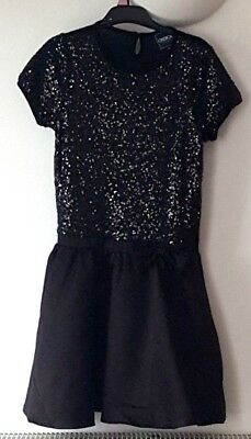 Beautiful Black Glittery Girls Dress (Lined) Size 11-12 Years - New without Tags