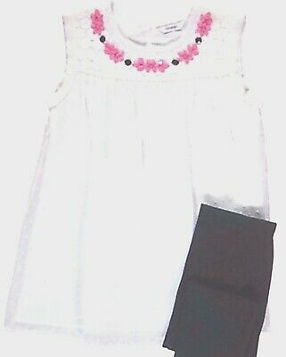 Girls 2 Piece T-shirt and Leggings Set - Size 6-7 Years - New with Tags