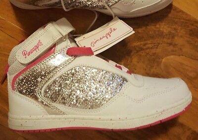 Girls Pineapple Dance Trainers - Glittery - White/Pink - New with Tags