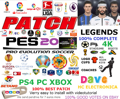 Option File Pes 2020 Ps4 Pc Ps3 Xbox360 Dave + Pendrive