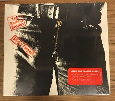 2 CD's - The Rolling Stones CD Sticky Fingers 20 Tracks + Booklet Free Shipping