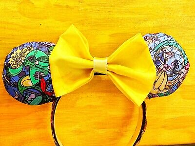 Beauty and the Beast inspired storybook mouse ears w/ gorgeous tapestry headband
