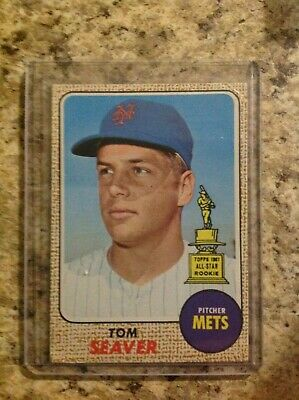 1968 Topps Tom Seaver All-Star Rookie rc New York Mets great centering