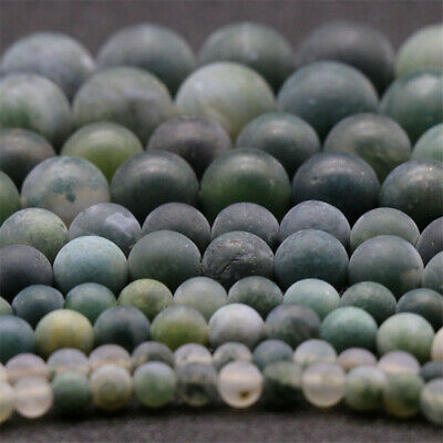 Nature Frosted Aquatic Agate Beads Diy Accessories Handmade Top Strand Gemstone