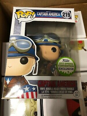Funko Pop! CAPTAIN AMERICA #219 ECCC 2017 WWII MARVEL Exclusive Vaulted NEW