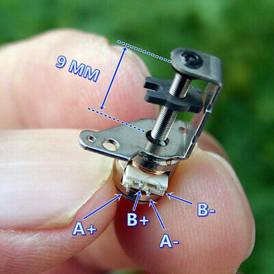 Micro Mini 6mm 2-phase 4-wire Stepper Stepping Motor Linear Screw Slider Block