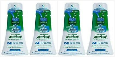 4 SmartMouth Mouthwash, Original Clean Mint - 16 oz Each - Smart Mouth FAST SHIP