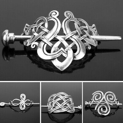 Vintage Norse Stick Slide Viking Hairpins Celtics Knots Hair Clips Hairpin US