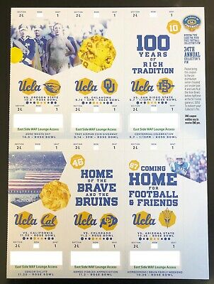 2019 UCLA Bruins Football Collectible Ticket Stub - Choose Any Home Game