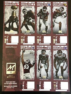 2019 Mississippi State Bulldogs Football Collectible Ticket Stub Any Home Game