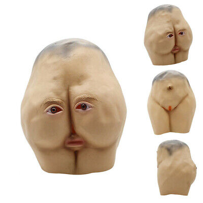 Halloween Party Mask Latex Butt Head Adult Ass Costume Accessory Prop Cosplay US