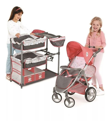 NEW 2019 Hauck Twin Doll Play Set(Doll Not Included)Doll Stroller For Kids Play