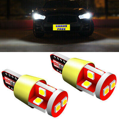 2Ps 15-SMD White LED Parts Side Light W5W Bulb Canbus Upgrade For Renault Trafic