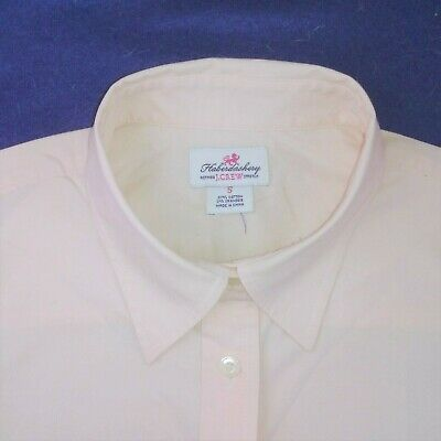 J CREW light peach-y pink stretch cotton fitted 3/4 sleeve blouse size SMALL