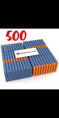 Refill Foam Darts Nerf Toy Gun Universal Replacement Bullet Pack Blue 500 Pieces