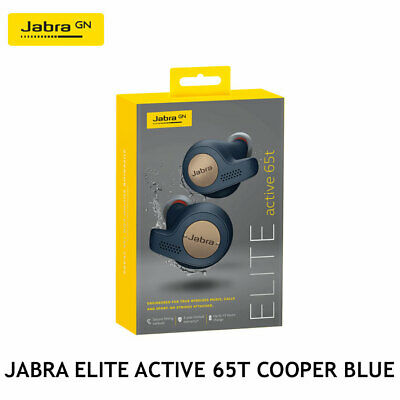 Jabra Elite Active 65t Cooper Blue Wireless Earbuds w/ Portable Charging Case